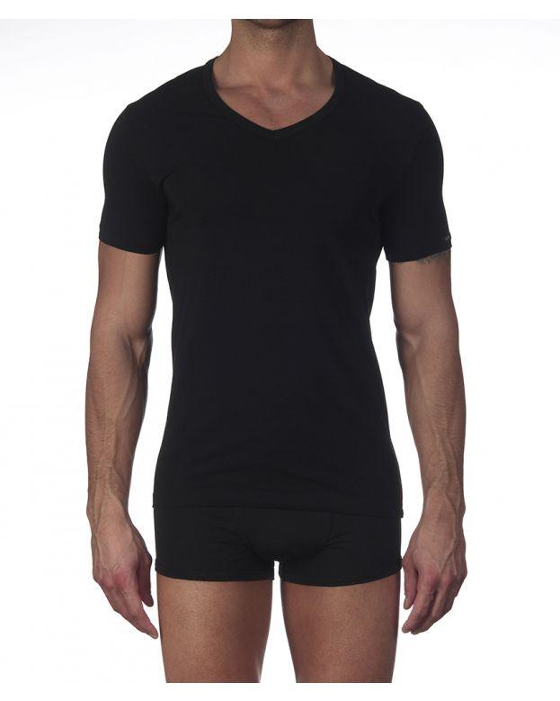 T-shirt Scollo V in cotone Oscalito