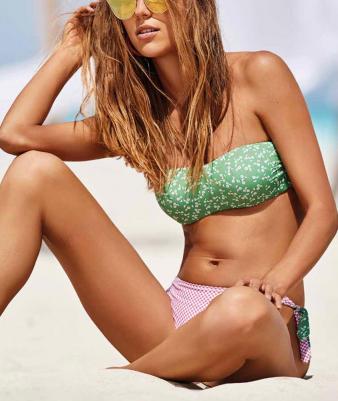 Beachwear fascia con ferretto Verdissima