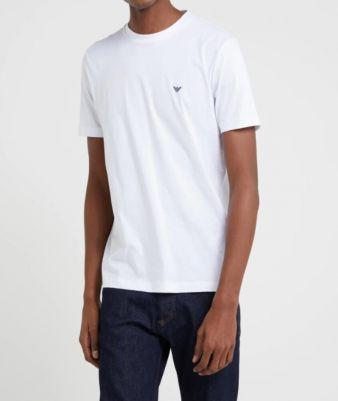 T-shirt girocollo in cotone elasticizzato Armani
