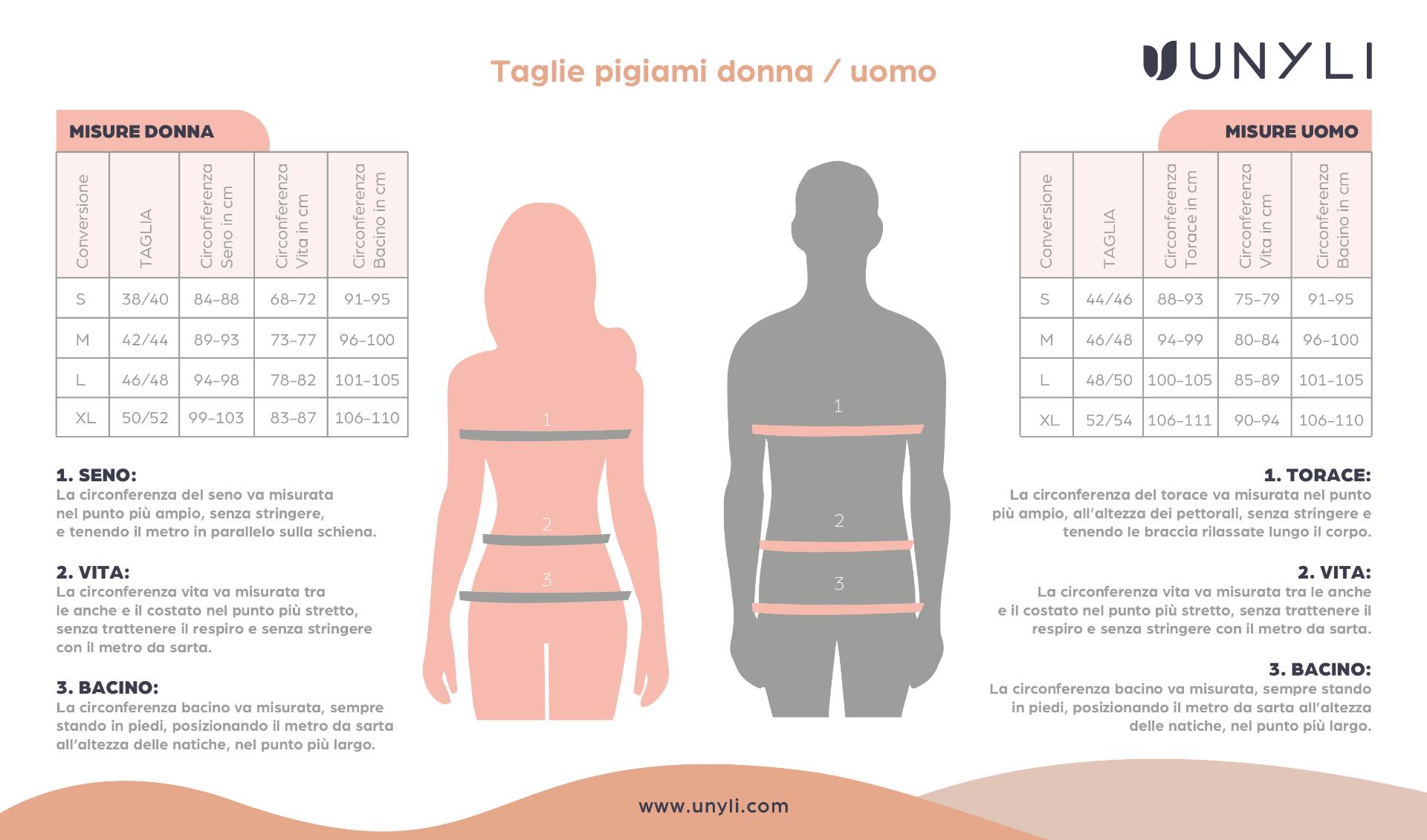 tabella-pigiami-uomo-donna